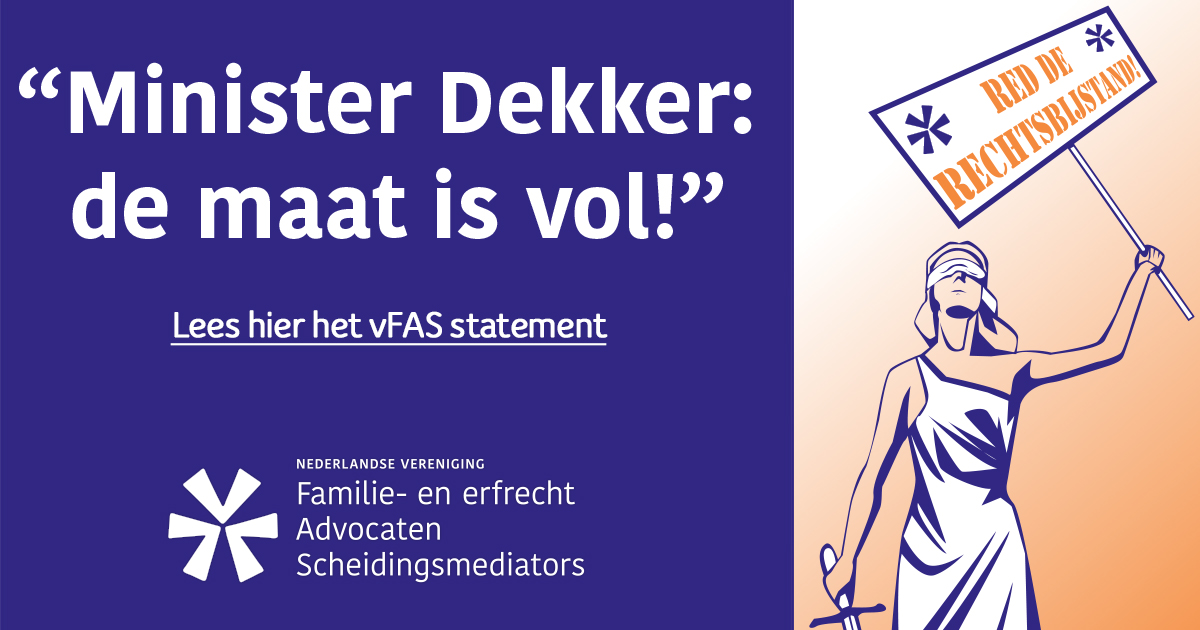 "Ook familierechtadvocaten staken: ""De maat is vol"""